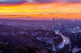 Panoramablick auf Los Angeles