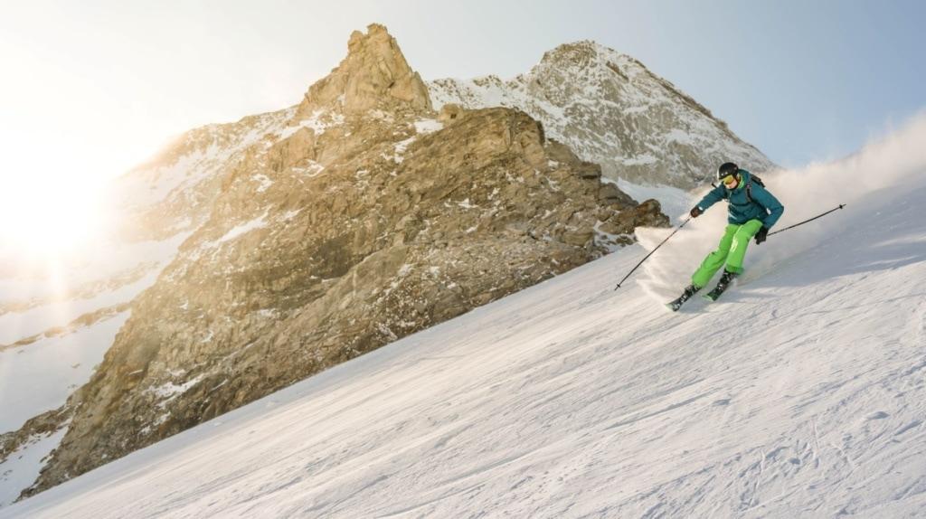 Skifahrer in Hintertux