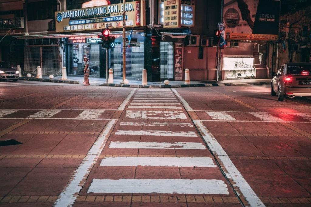 Straße in George Town Malaysia
