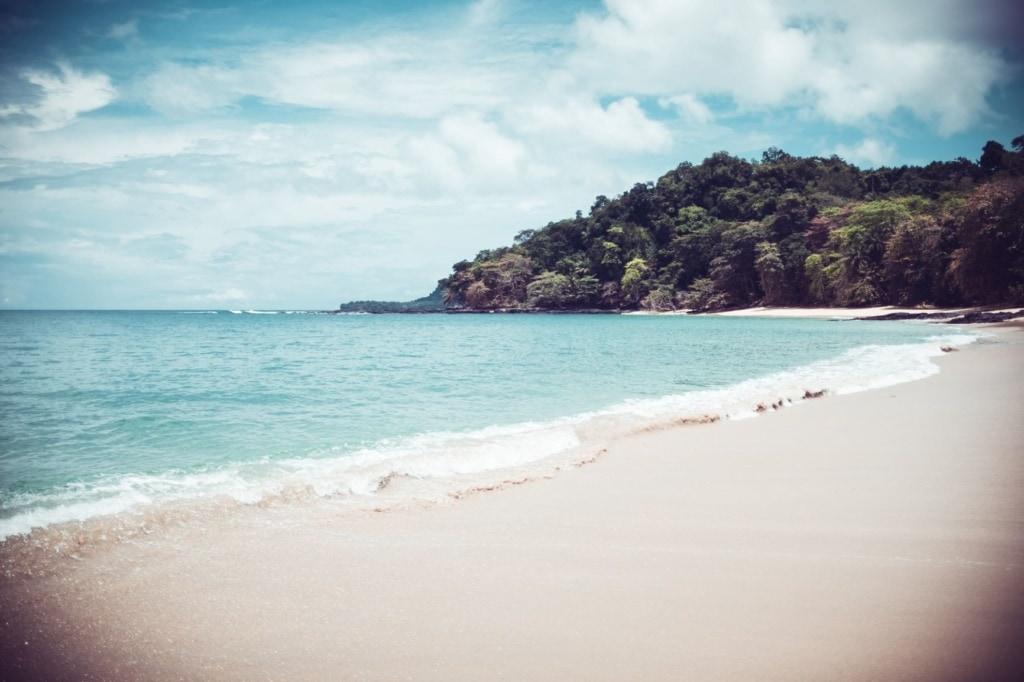Strand in São Tomé und Príncipe