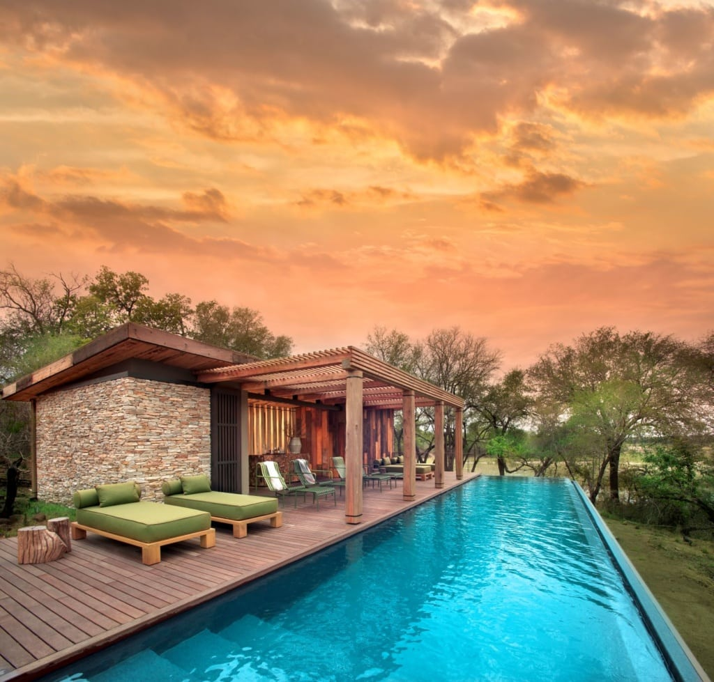Villa mit Pool im andBeyond Tengile River Lodge