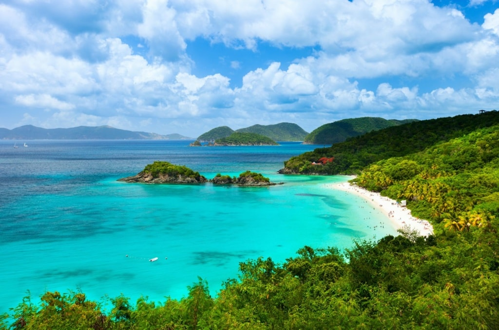 Trunk bay on St John island, US Virgin Islands