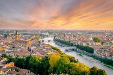 Panorama-Blick über Verona in Italien