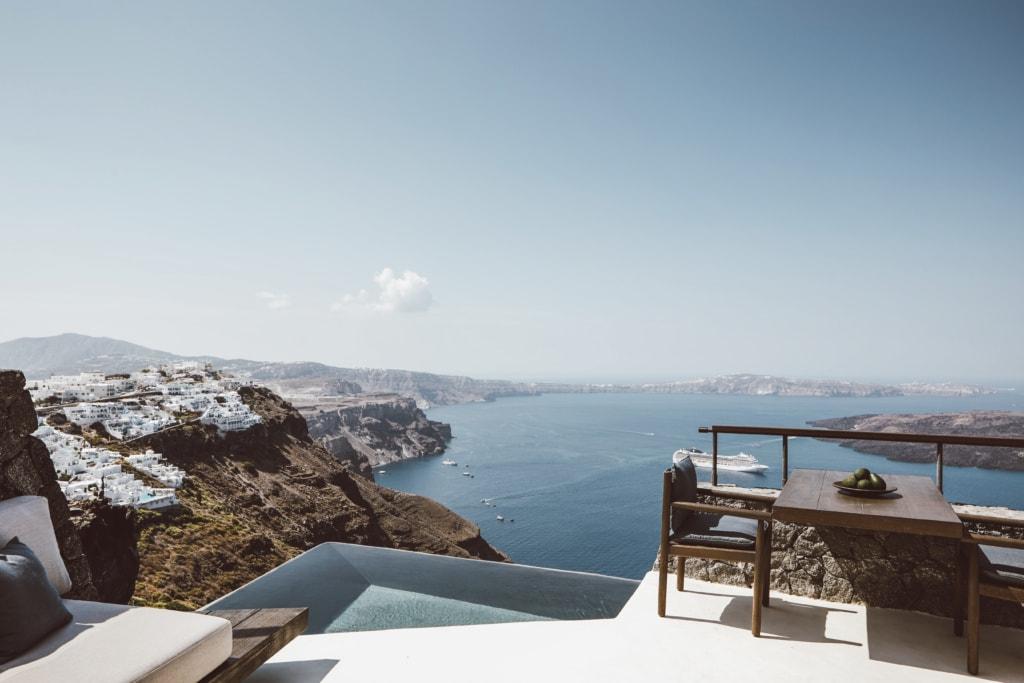 Terrasse der Vora Villa auf Santorin