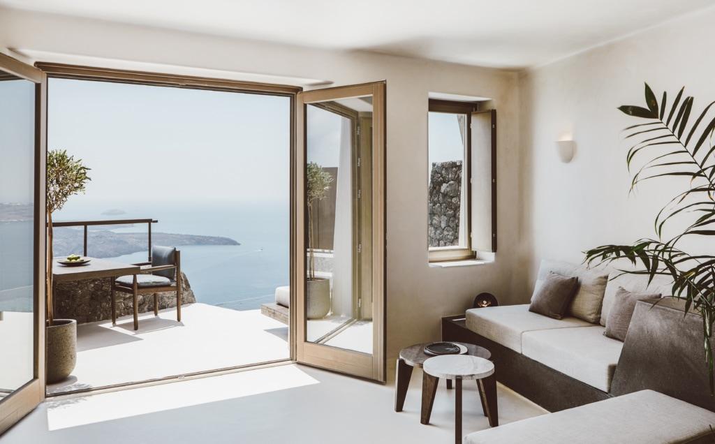 Vora-Villa auf Santorin