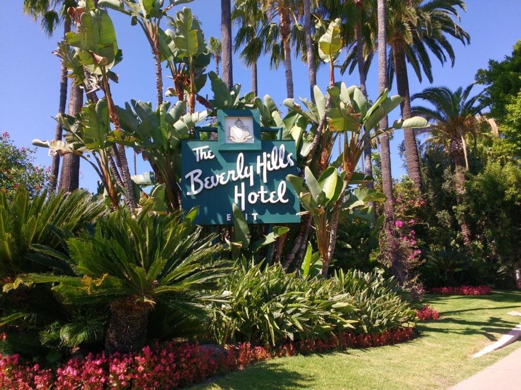 Logo des Beverly Hills Hotel in LA