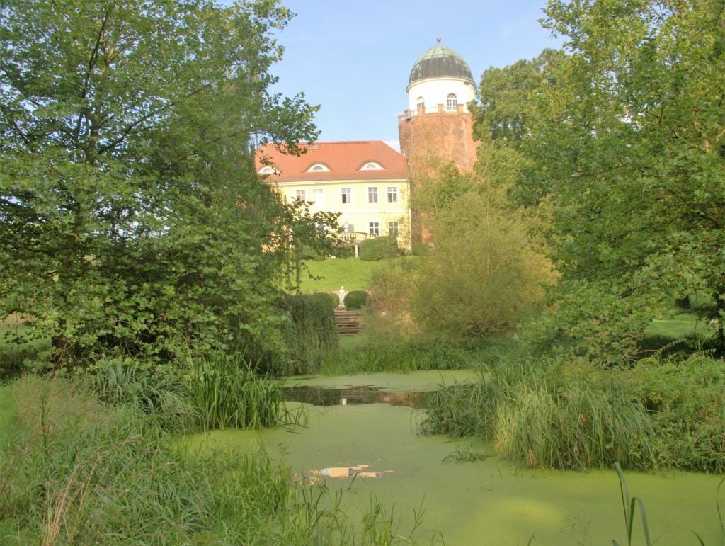 Park der Burg Lenzen in der Prignitz