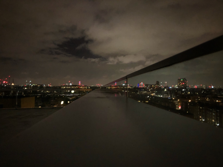 Nächtlicher Blick auf die Skyline von london