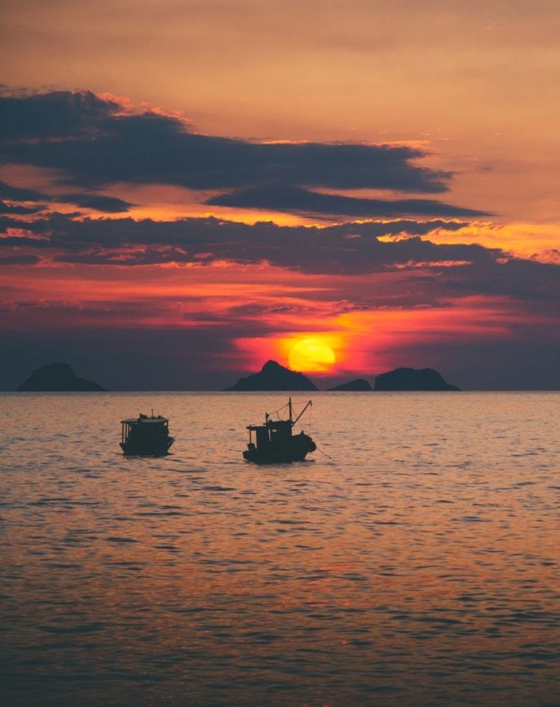 Sonnenuntergang in Ipanema