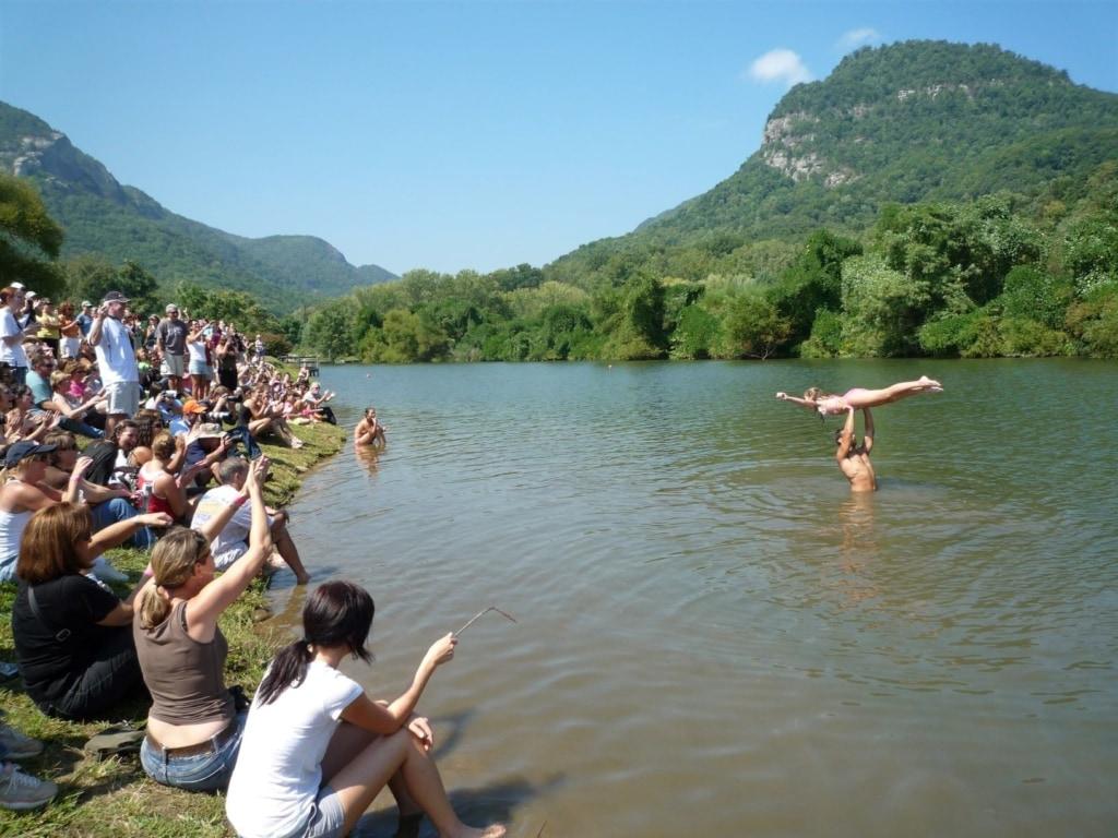 Lake Lure Dirty Dancing Festival Lift in Water