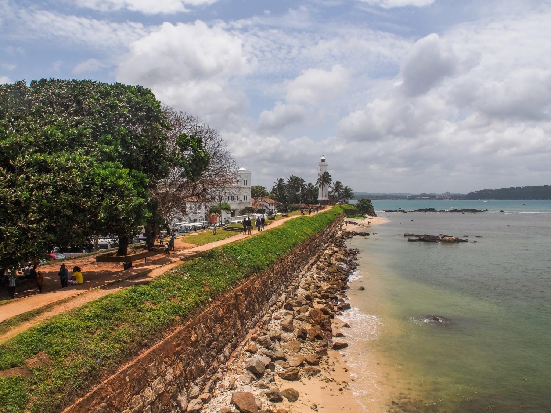 Blick auf den Leuchtturm in Galle Fort, Sri Lanka