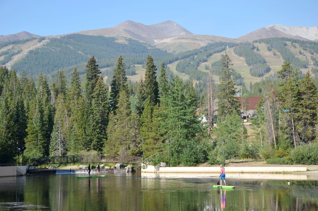 Paddler in Breckenridge