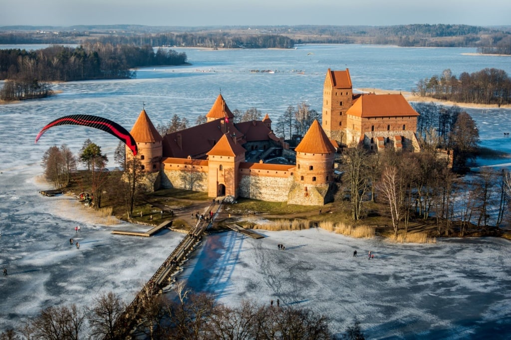 Trakai in Litauen im Winter