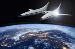 Shuttle im Weltall