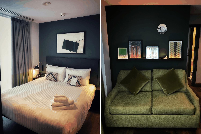 Gemütliche Sofa-Ecke im Residence Inn in London