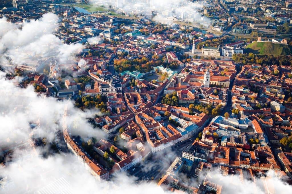 Vilnius aus der Vogelperspektive