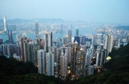 Am The Peak in Honkgong erstreckt sich der Großstadtdschungel.
