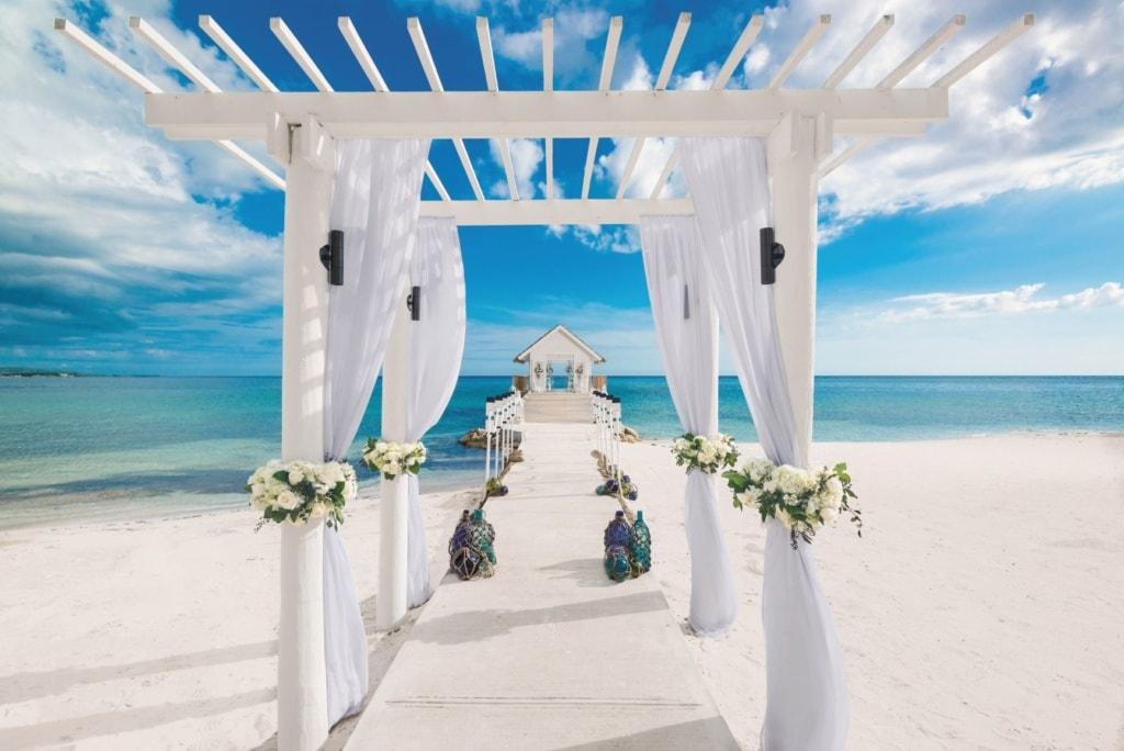 Hochzeit am Strand in Karibik