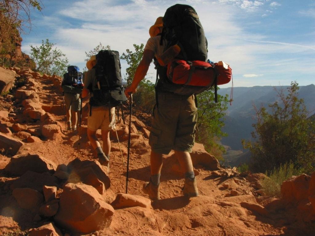 Wanderer auf dem Bright Angel Trail