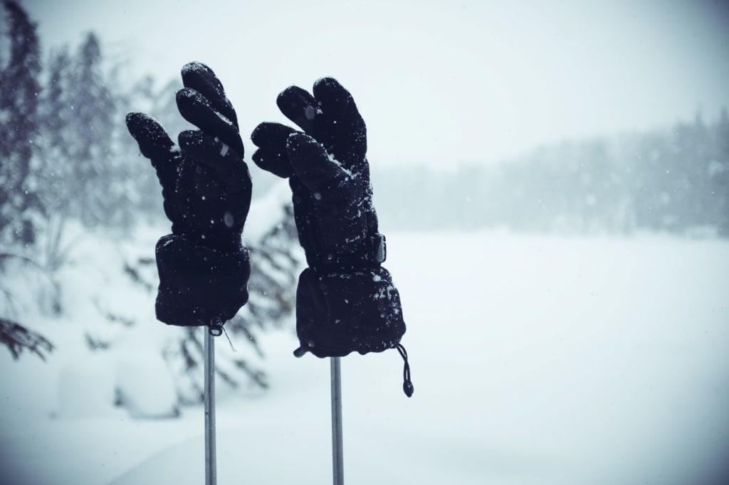 Handschuhe auf Stab