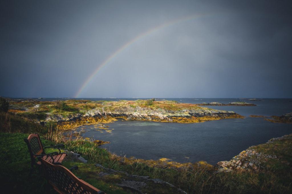 Norwegen ist auch das Land der Regenbögen – selten hat unser Autor Andreas Dauerer so viele von ihnen gesehen wie dort.