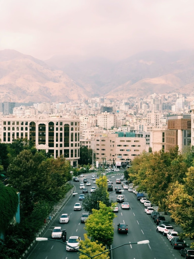 Kaved Boulevard in Teheran
