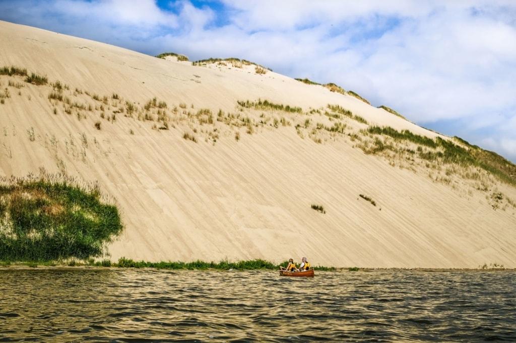 Boot an der Kurischen Nehrung in Litauen