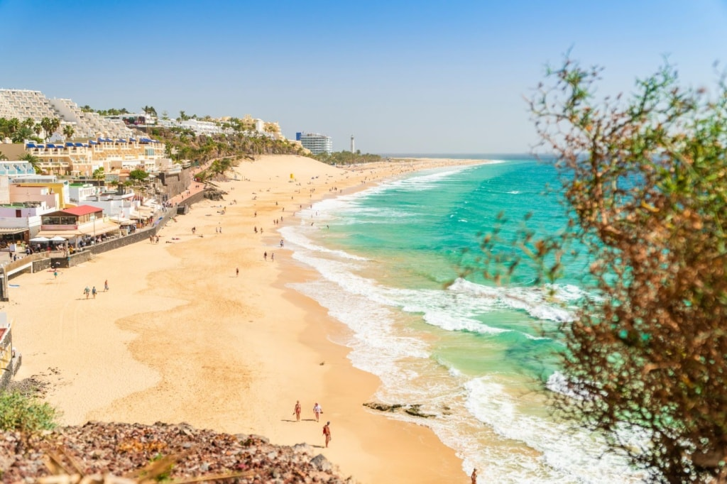 Strand in Morro Jable auf Fuerteventura
