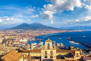 Neapel Italien Panorama Blick