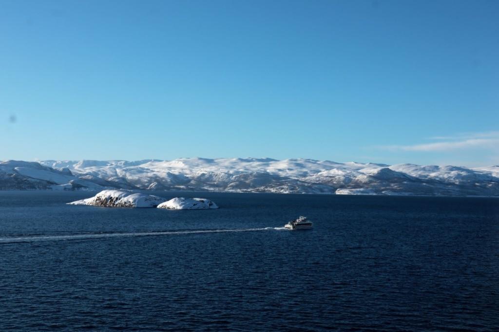 Norwegens Küste im Winter