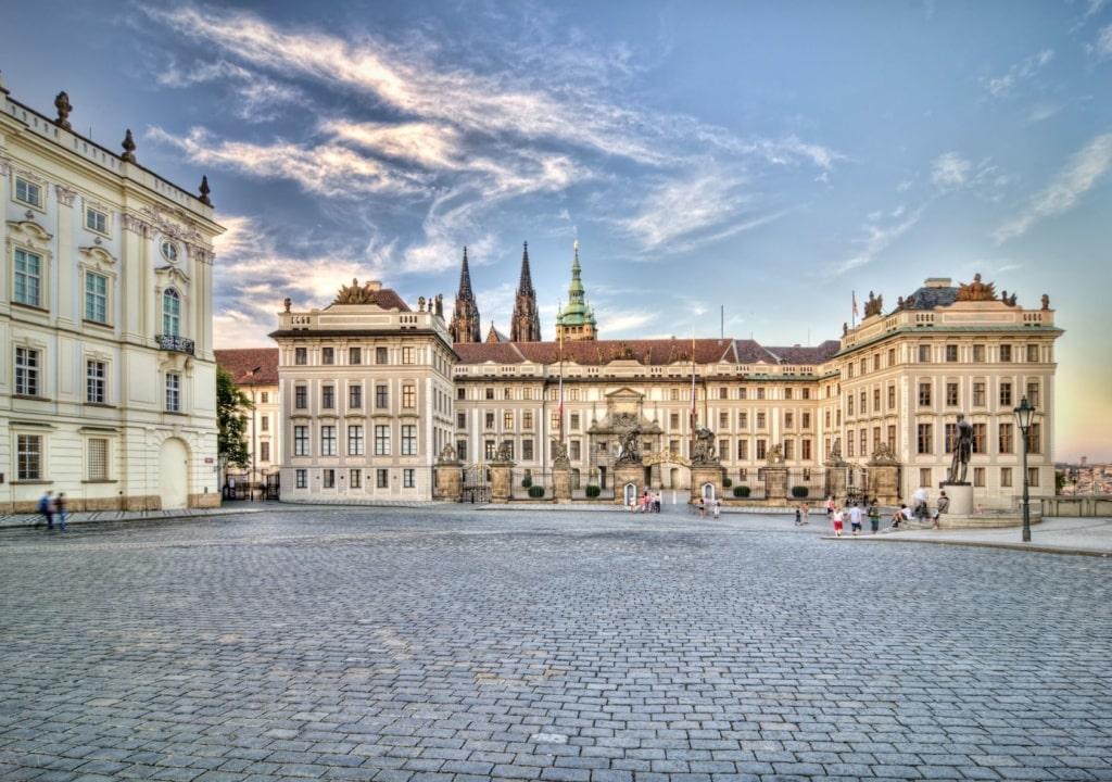 Platz auf der Prager Burg