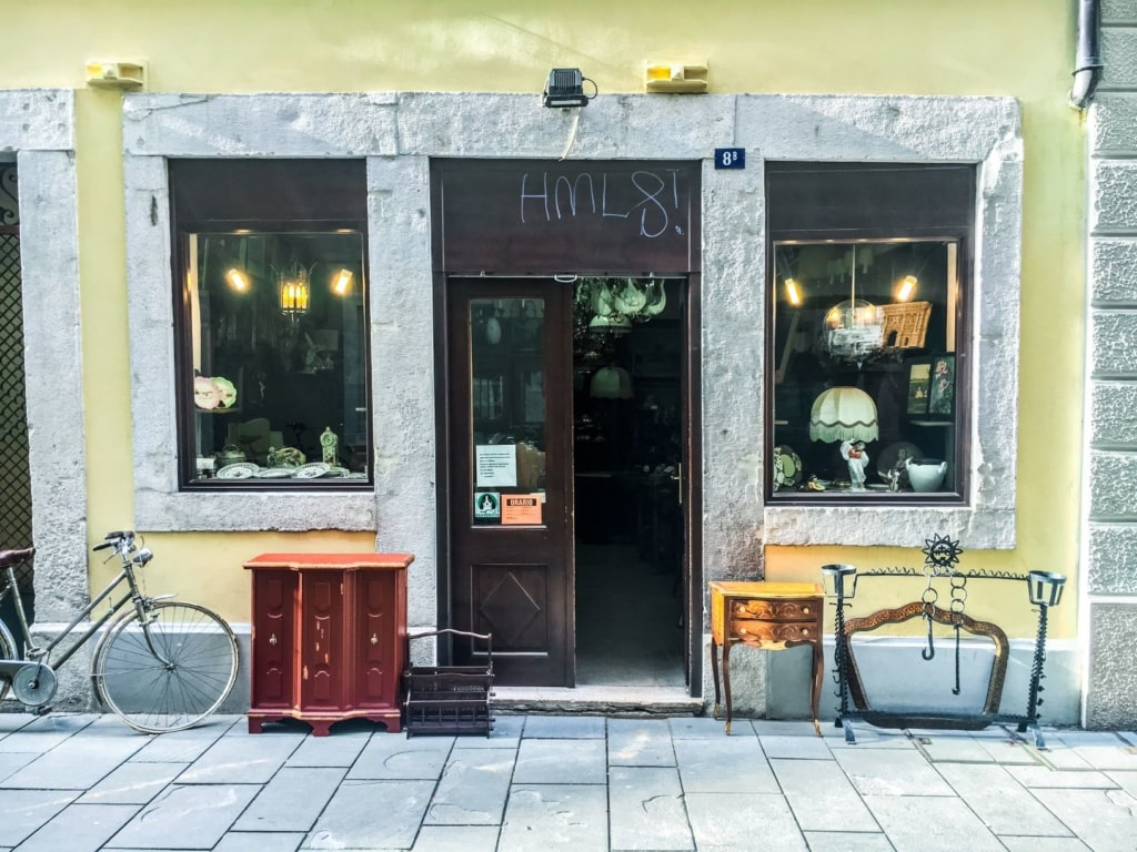 Antiquitätenladen in Triest