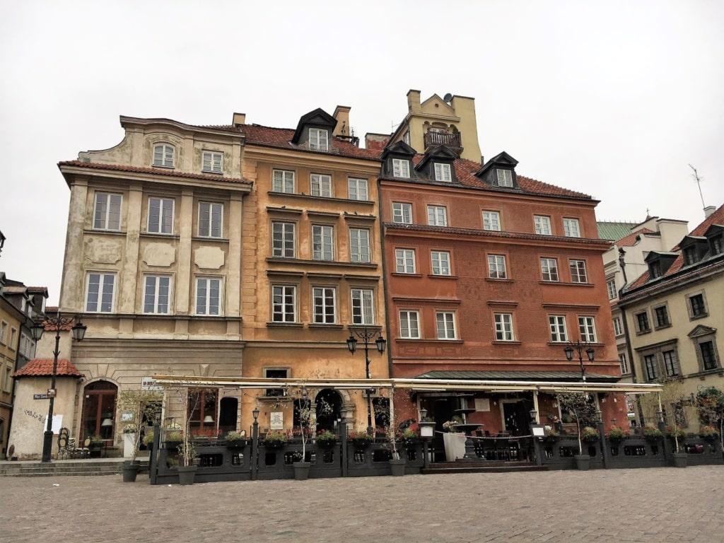 Häuser in der Warschauer Altstadt