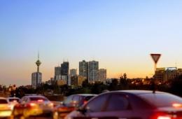 Skyline Teheran bei Nacht