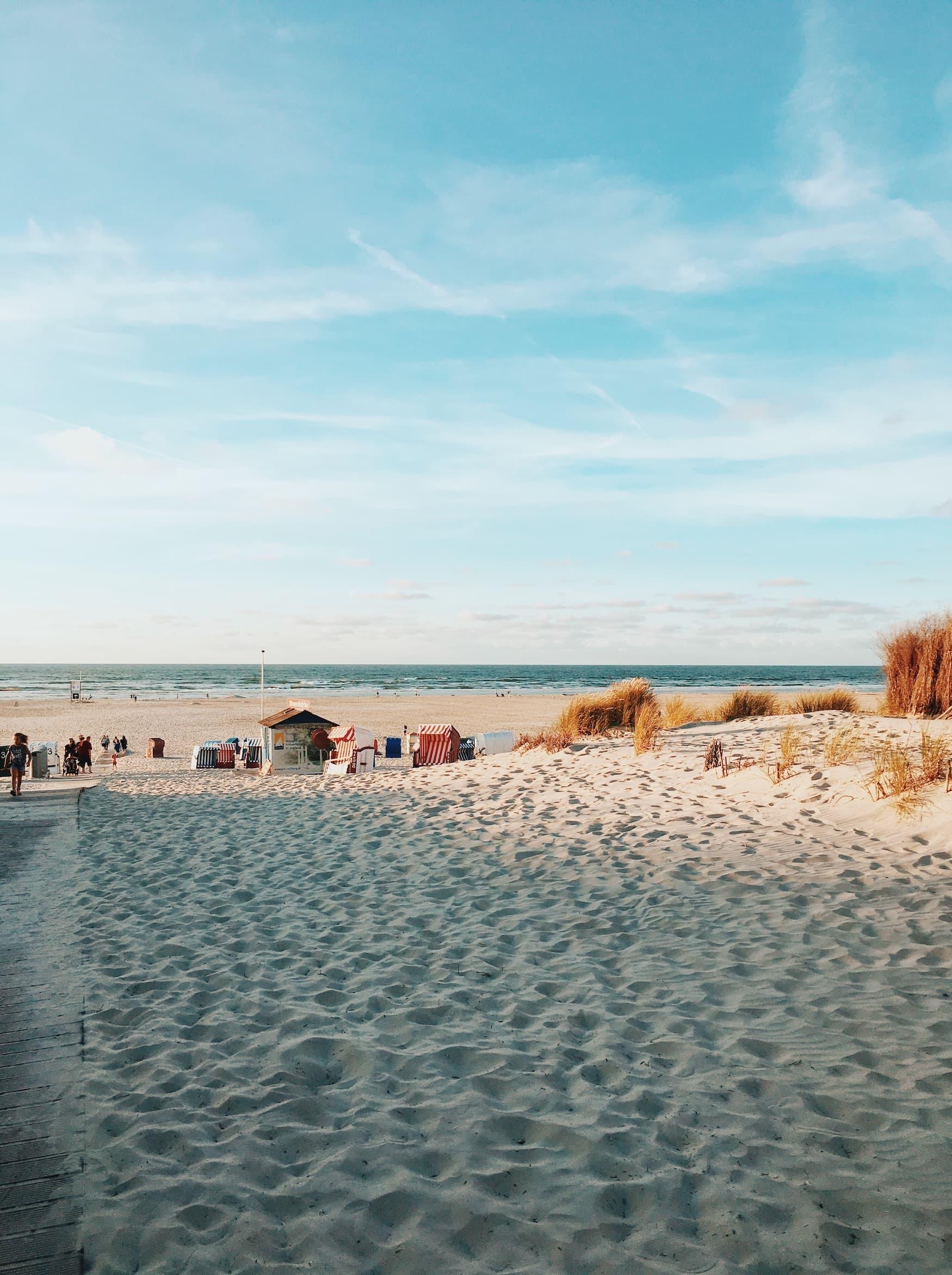 Strand auf der deutschen Insel Juist
