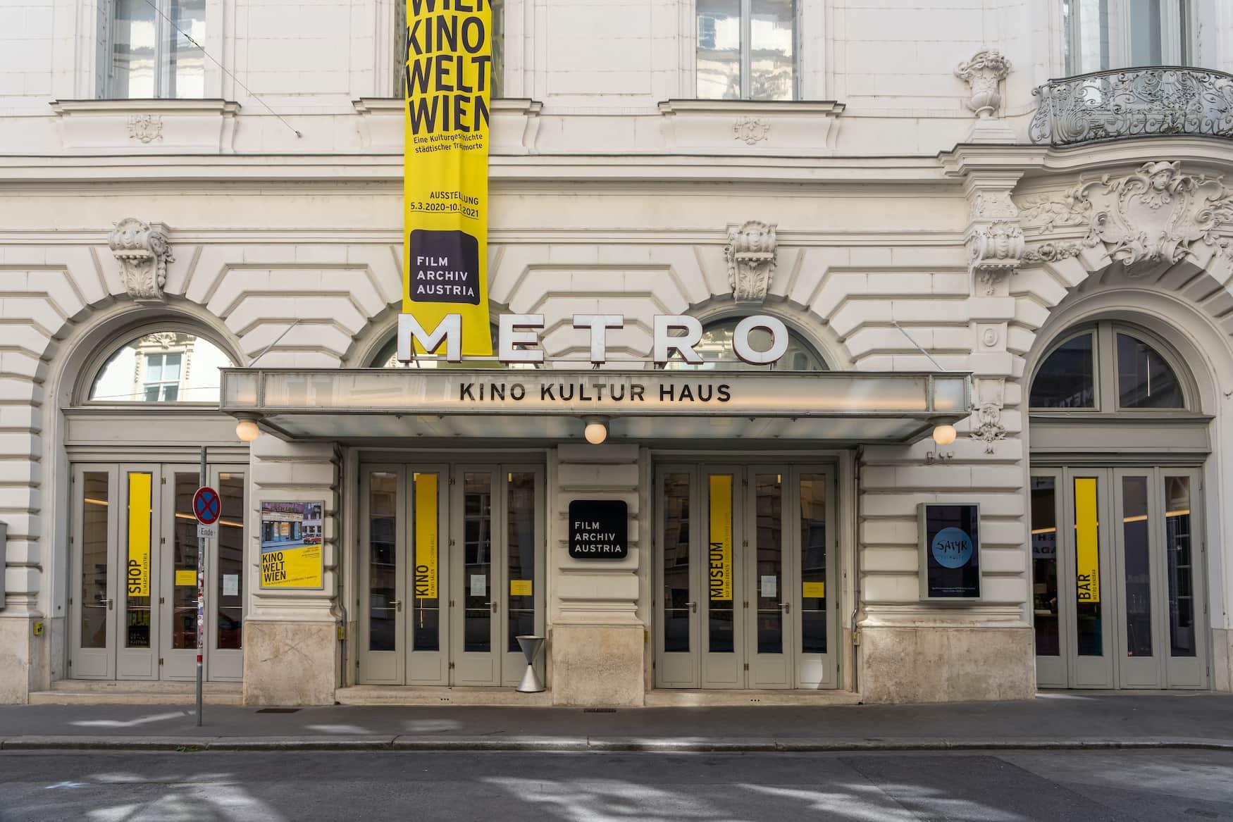 Das Metro Kulturkino in Wien auf der Johannesgasse
