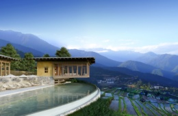 Pool im Six Senses Bhutan