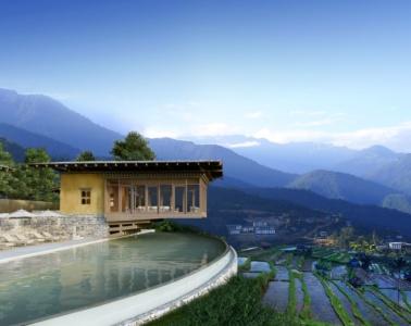 Pool im Six Senses Bhutan