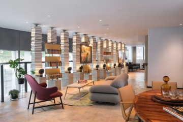 Offene Lounge im Bankside Hotel in London