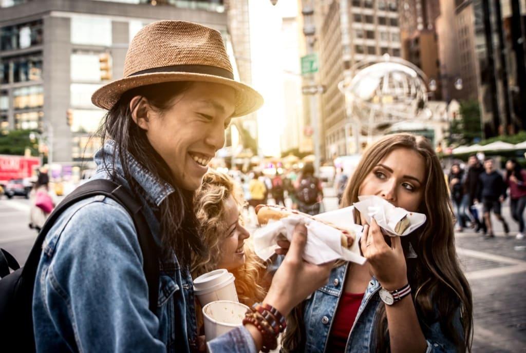 Menschen New York Food Truck