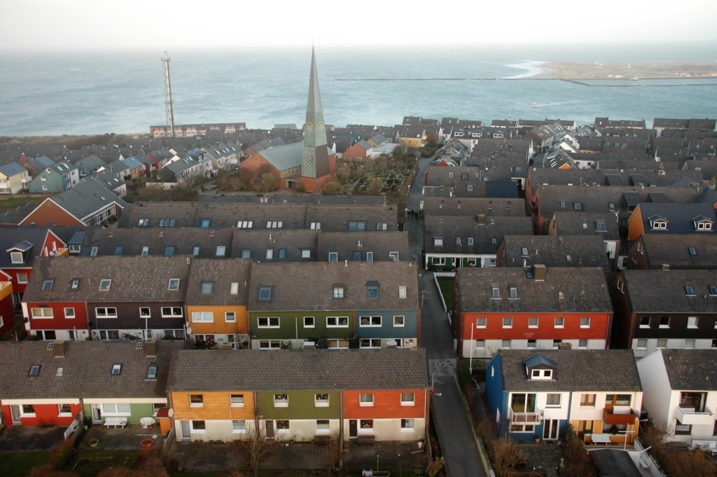 Häuser auf Helgoland