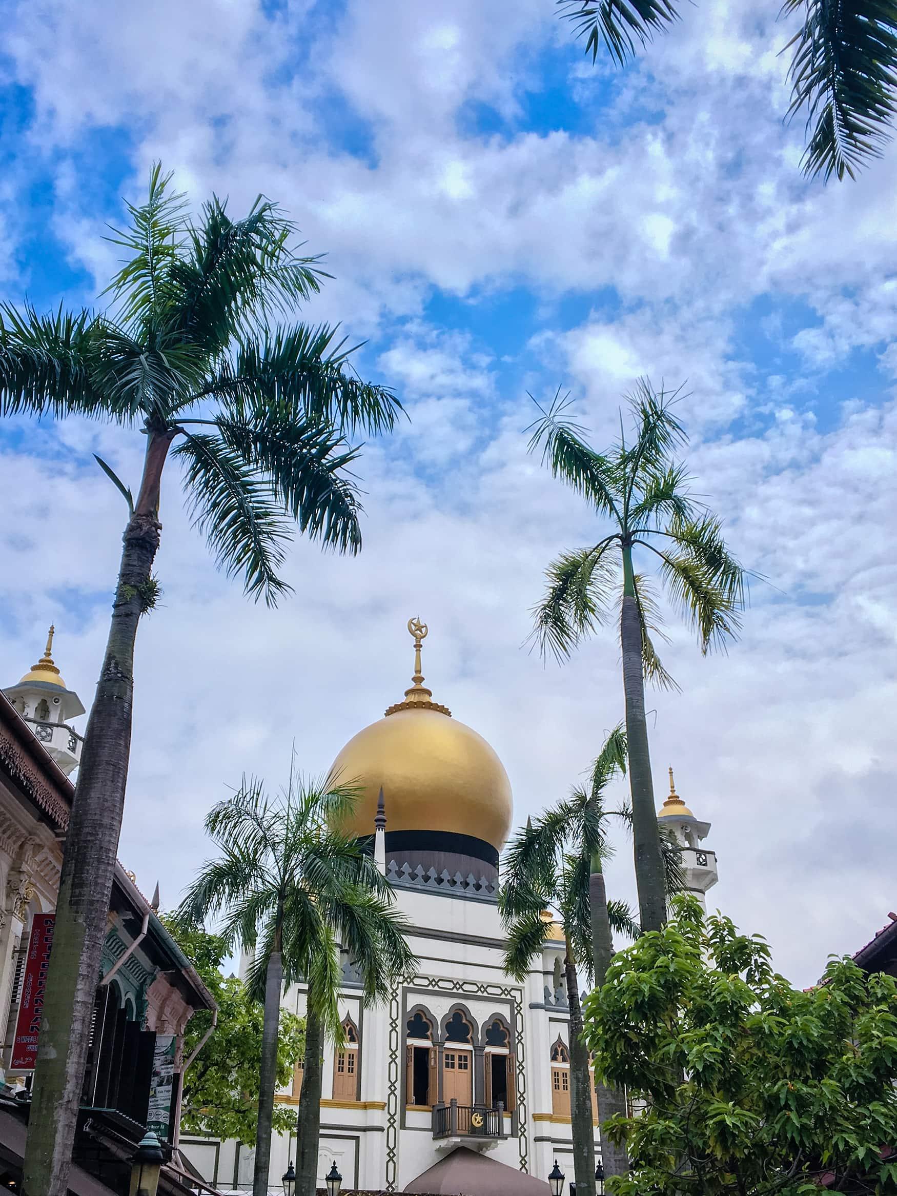 Sultan Moschee in Singapur von außen