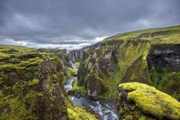 Fjadrárgljúfur Canyon in Island
