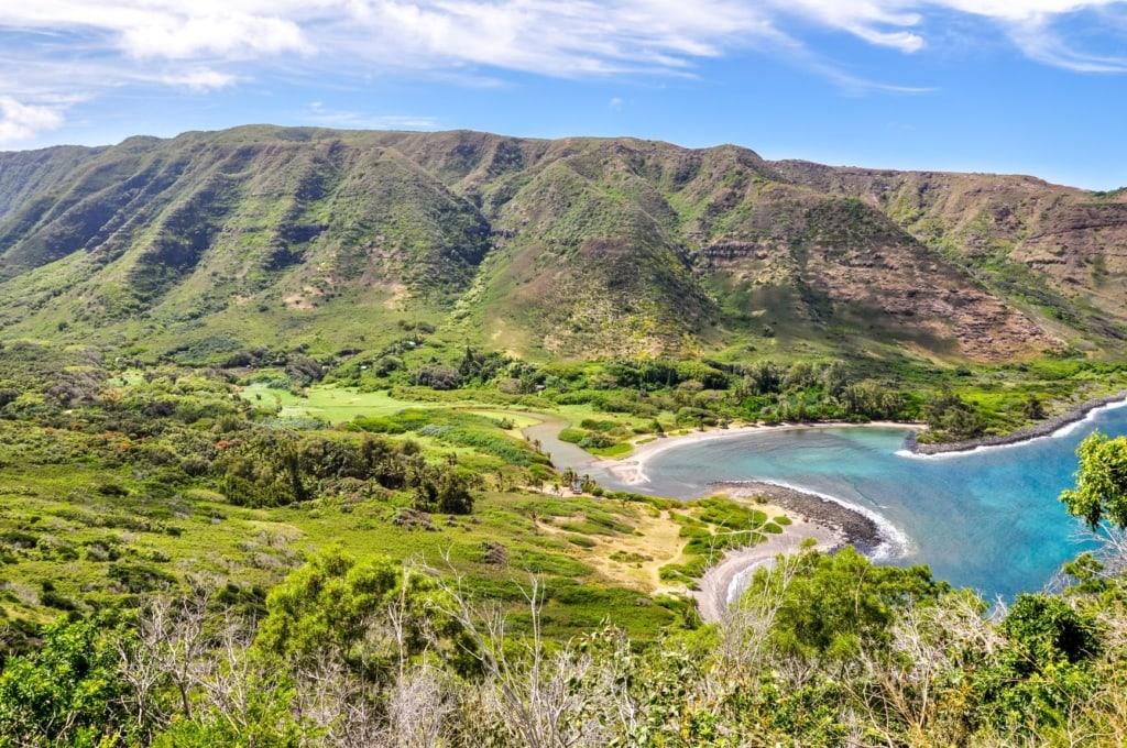 Halawa Beach Park auf Molokai auf Hawaii