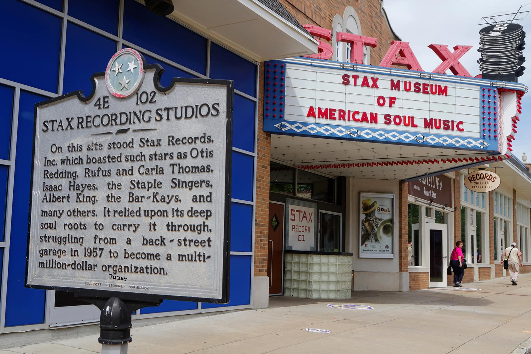Eingang des Stax Museums in Memphis