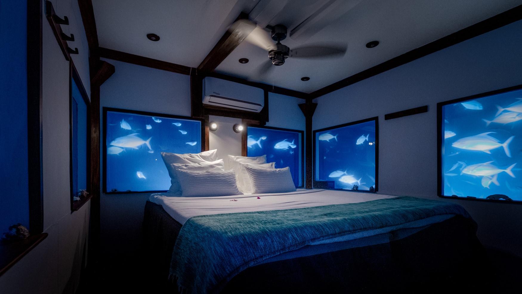 Schlafzimmer im Manta Resort
