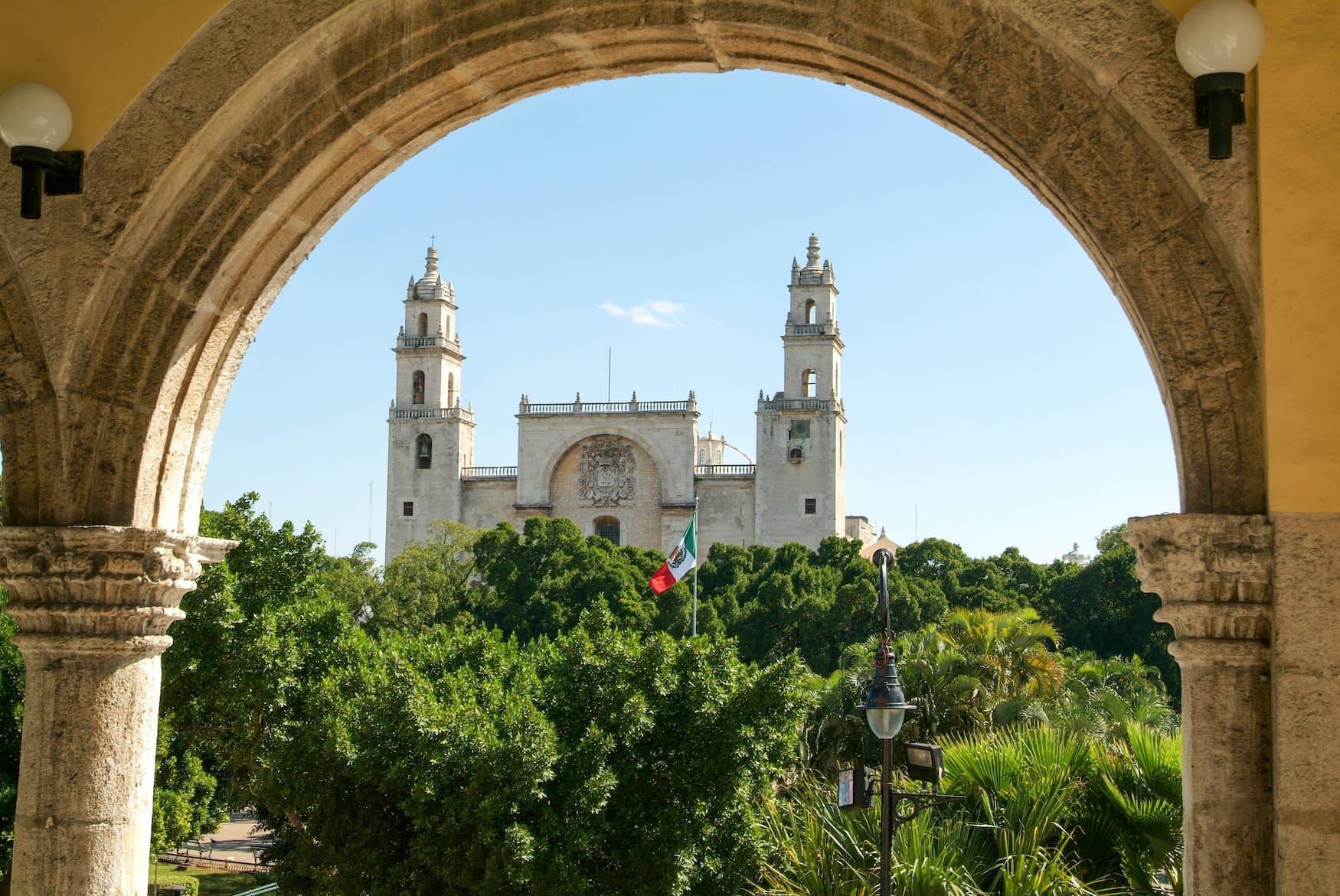 Kathedrale in Merida, Yucatan