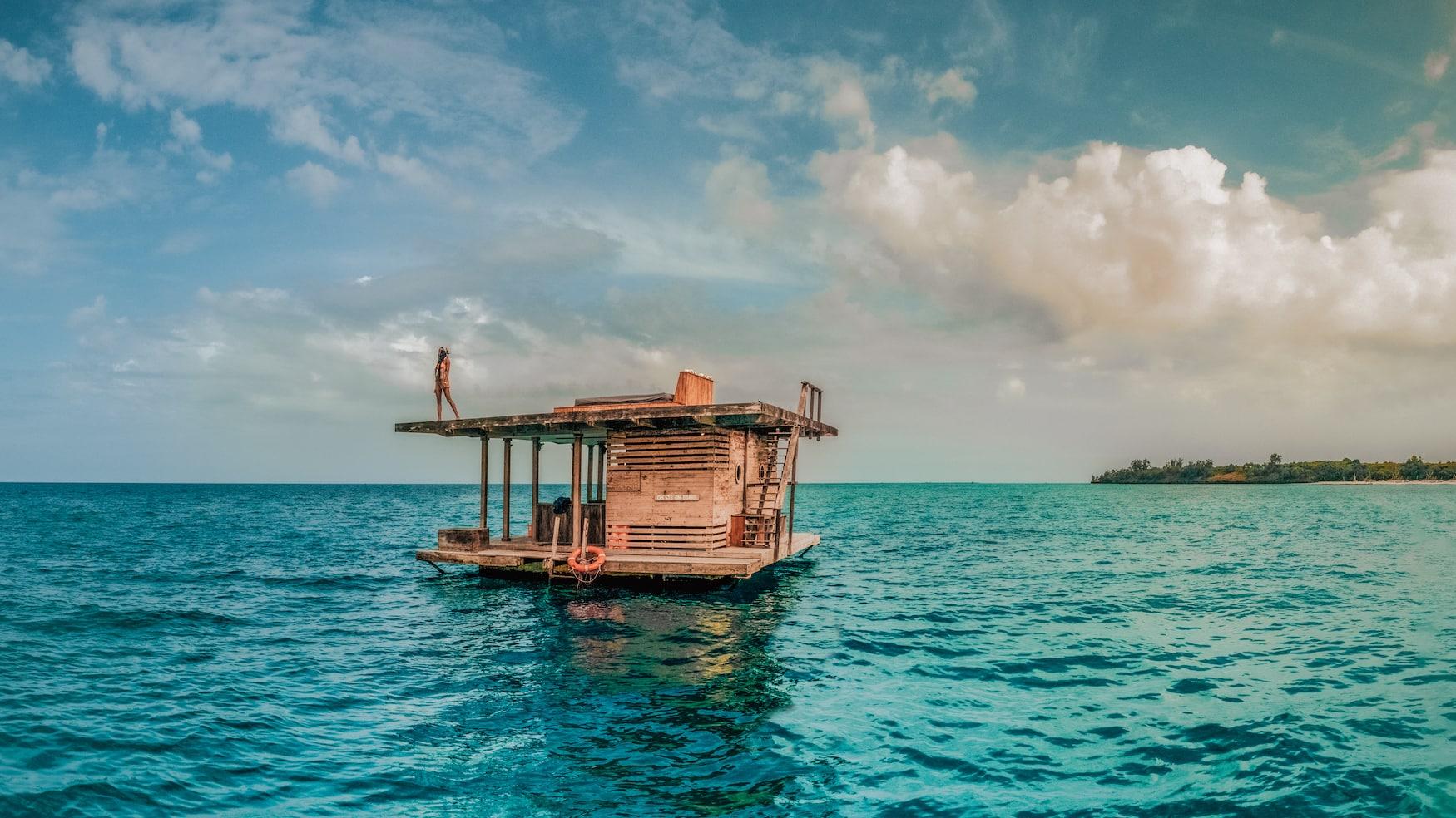 Unterwasser-Suite des Manta Resort auf Pemba Island