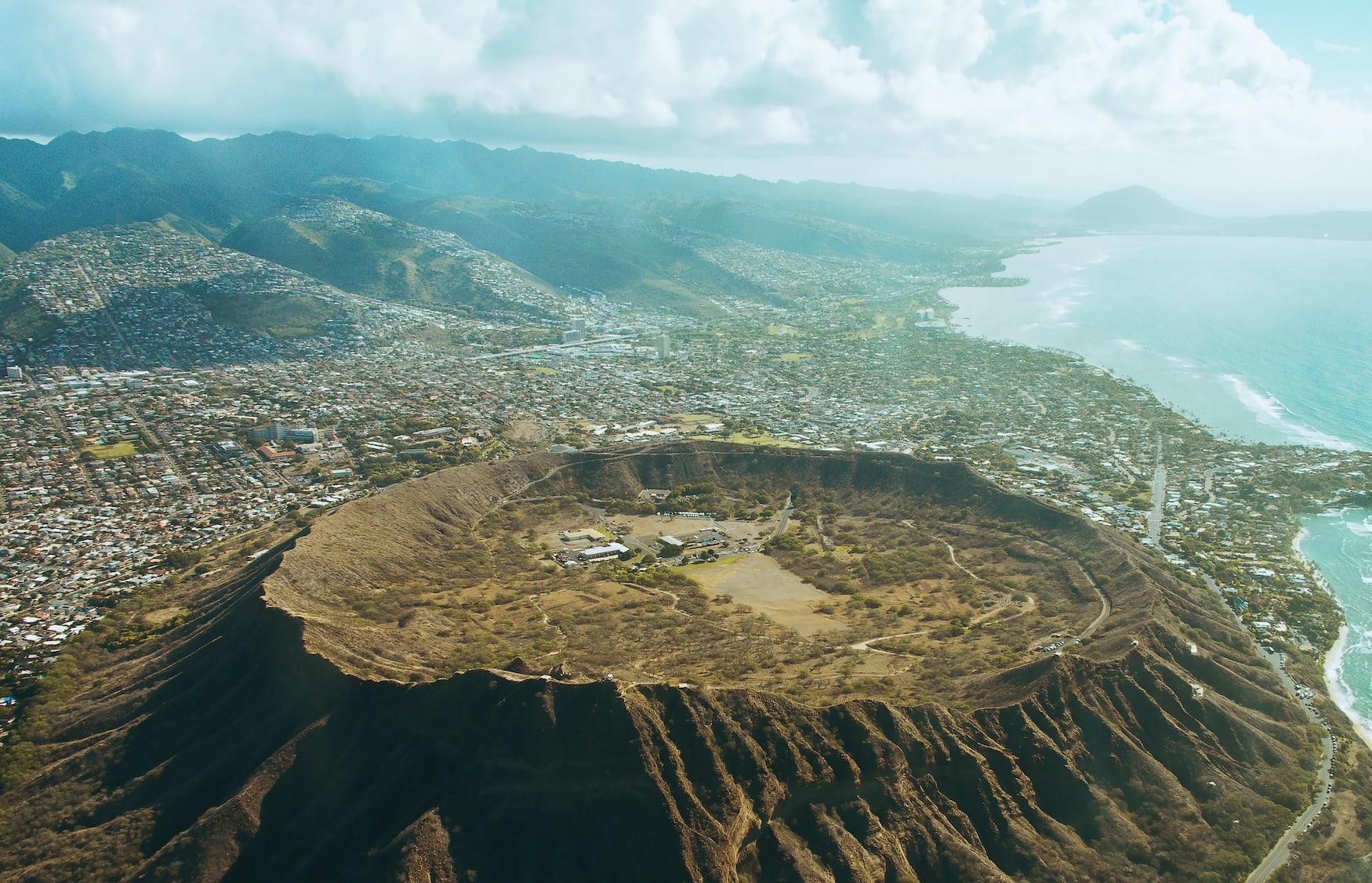 Diamond Head auf der Insel Oahu, Hawaii