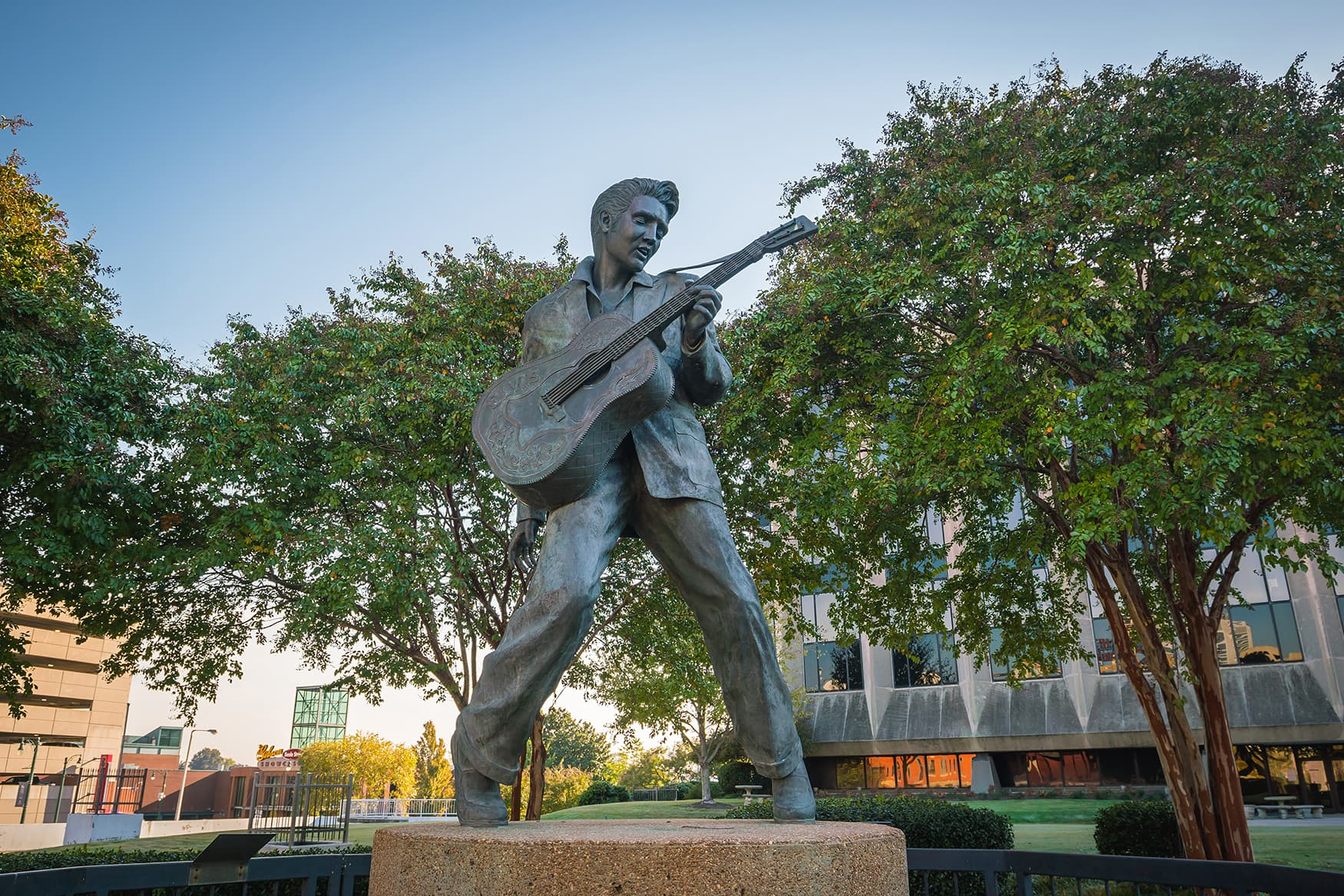 Elvis Presley Statue in Memphis